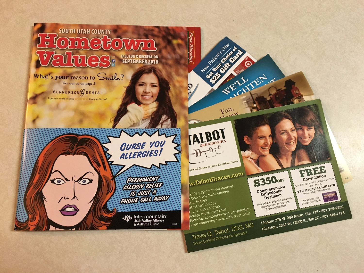 Hometown Values Blow-in Cards