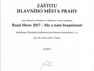 Projektu Road Show 2017 byla udělena záštita radním města Prahy