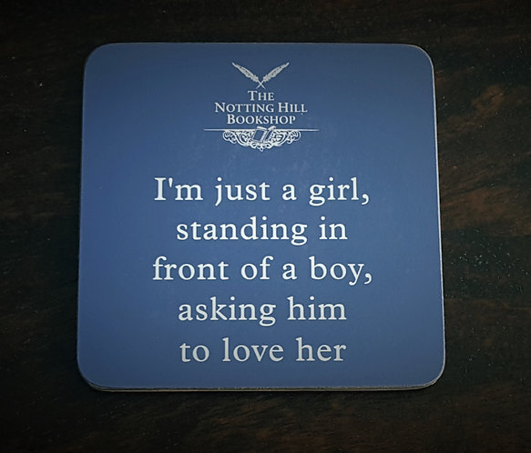Notting Hill Bookshop Quote Coaster