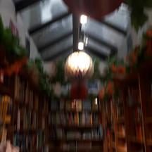 Rainy day in the bookshop