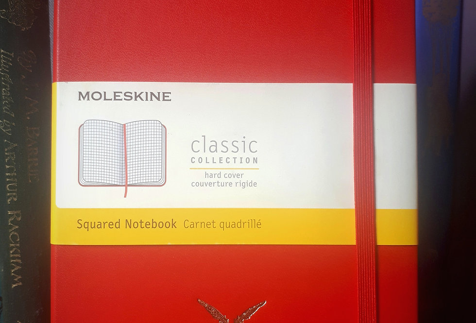 Moleskine Notebook, A5 Red Squared