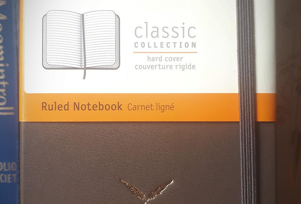 Moleskine Pocket Notebook, Brown Ruled