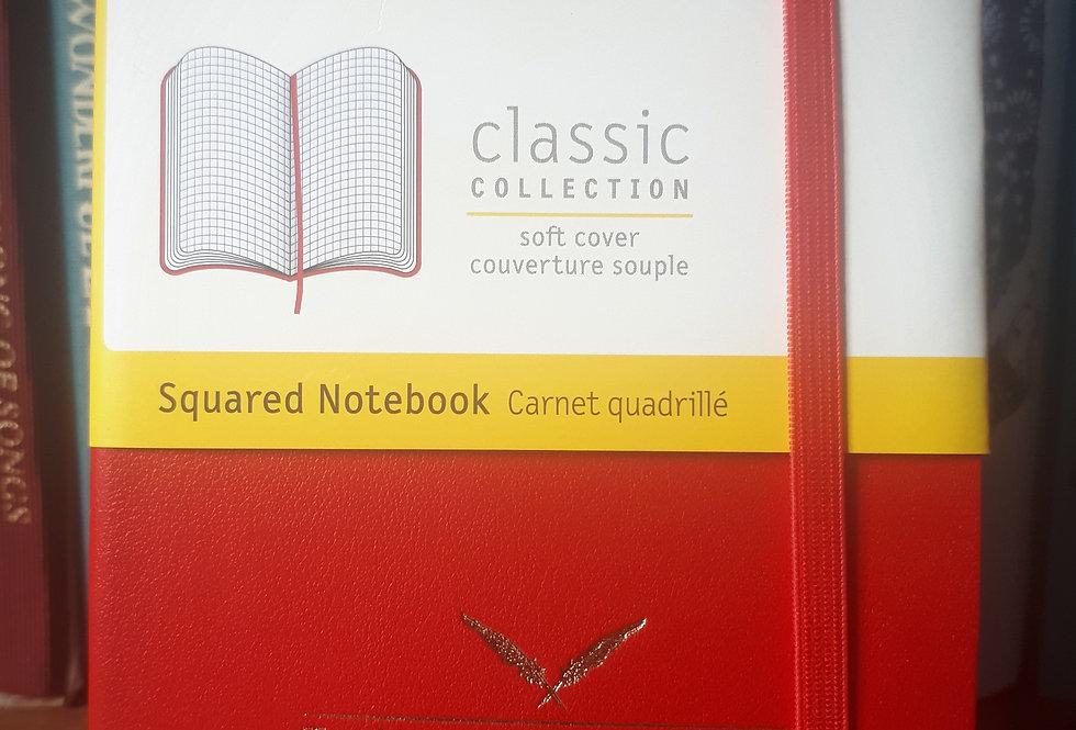 Moleskine Soft Pocket Notebook, Red Squared