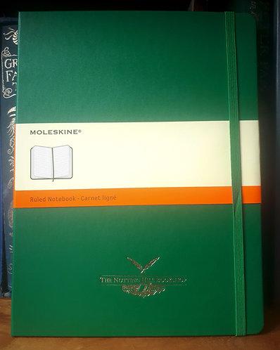 Moleskine Notebook, XLarge Green Ruled