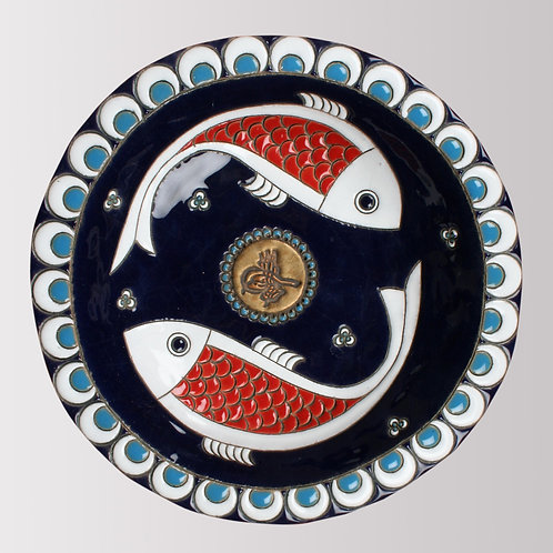 Two Fish Circle Plate