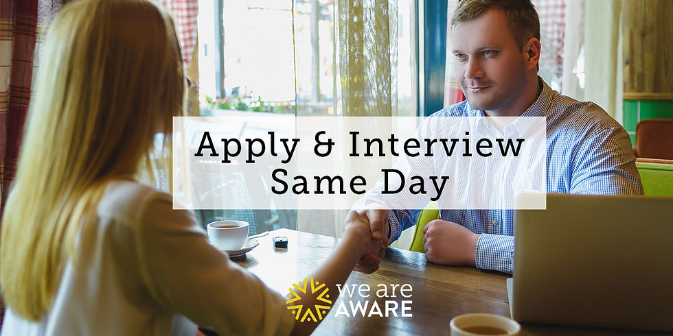 Apply & Interview Same Day
