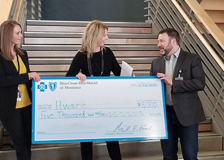 AWARE receives $40,000 grant to support employees
