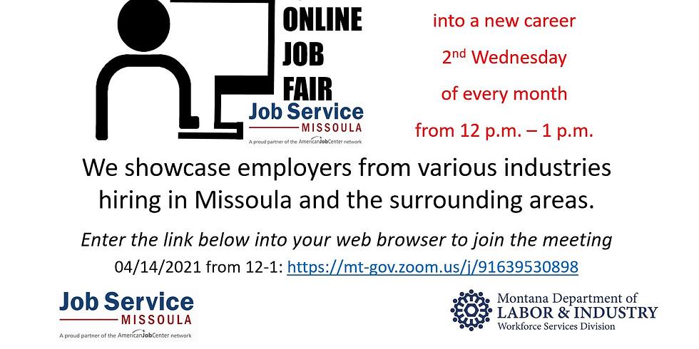 Online Job Fair - Missoula