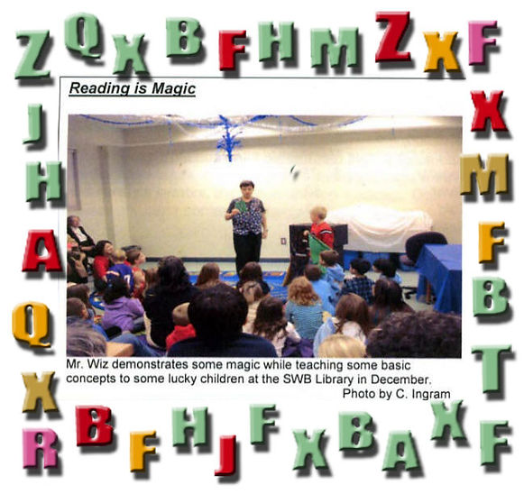 mr wiz the magician does magic shows for libraries