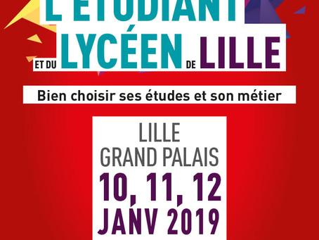 Votre invitation au salon de l'Etudiant de Lille 2019