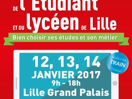 Votre invitation au salon de l'Etudiant de Lille