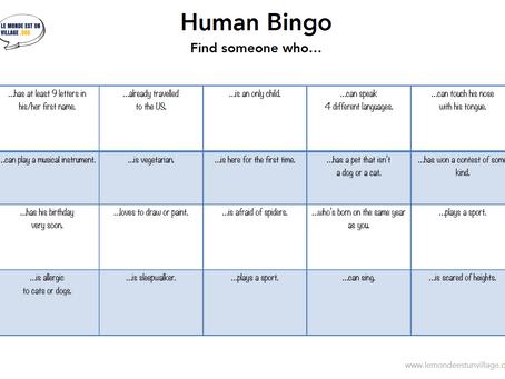Human Bingo : le jeu qui brise la glace en séjour linguistique