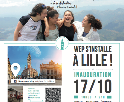 WEP à Lille : Invitation pour l'inauguration