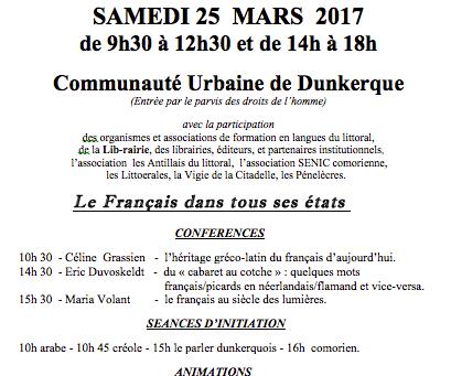 Salon des Langues de Dunkerque : 25 mars 2017