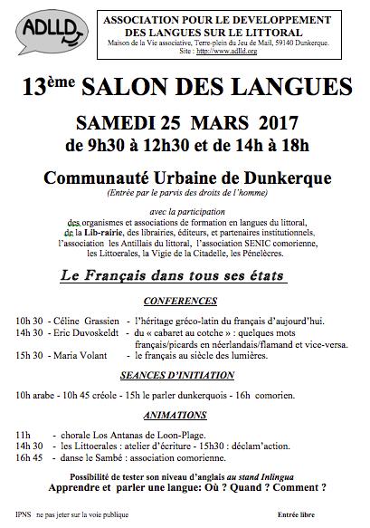 Salon des langues dunkerque - 25 mars 2017