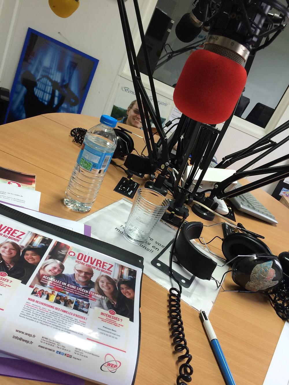 Studio Radio Plus accueil l'association WEP pour le Nord Pas de Calais