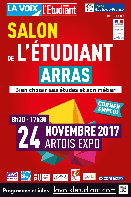 Invitation salon Etudiant Arras 2017