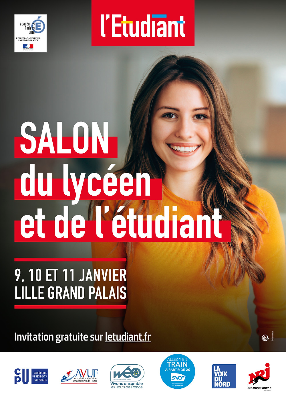 Invitation au salon de l'Etudiant et du Lycéen de Lille 2019