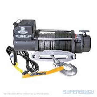 SUPERWINCH TIGER SHARK 11500SR 12V WINCH SYNTHETIC ROPE