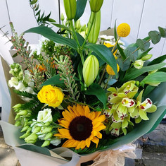 Yellow and green - Sunflower mix.
