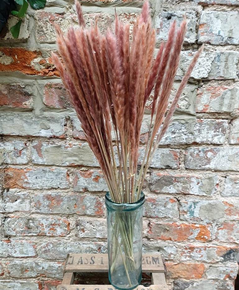 Blue column vase