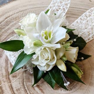 Fresh flower in white.