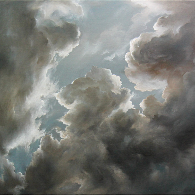 MinWooBang_Cloud Abstaction_51x56cm_oil