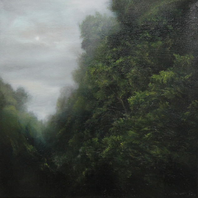 MinWooBang_Dusk in a forest_52x52cm_oil