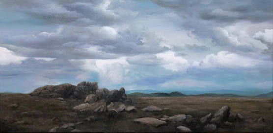 Ancient Rocks_51x100cm_oil on linen_2020