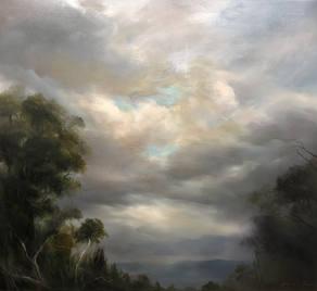 Tranquil Sky_oil on linen_102x112cm_2020