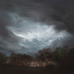 Stormy clouds in dusk