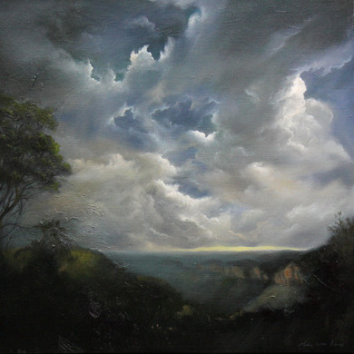 Dramatic Sky in Blue mountain