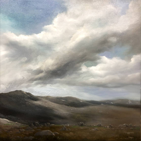 Approaching clouds_52x52cm_oil on linen.