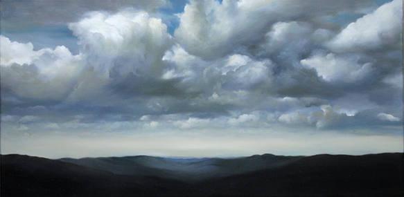 Mountainous Horizon_51x100cm_oil on line