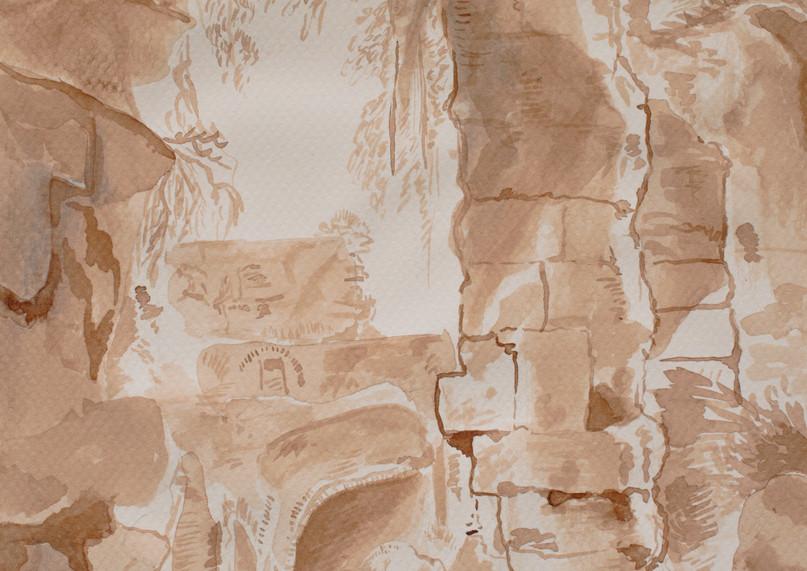 Grotte aux lavis