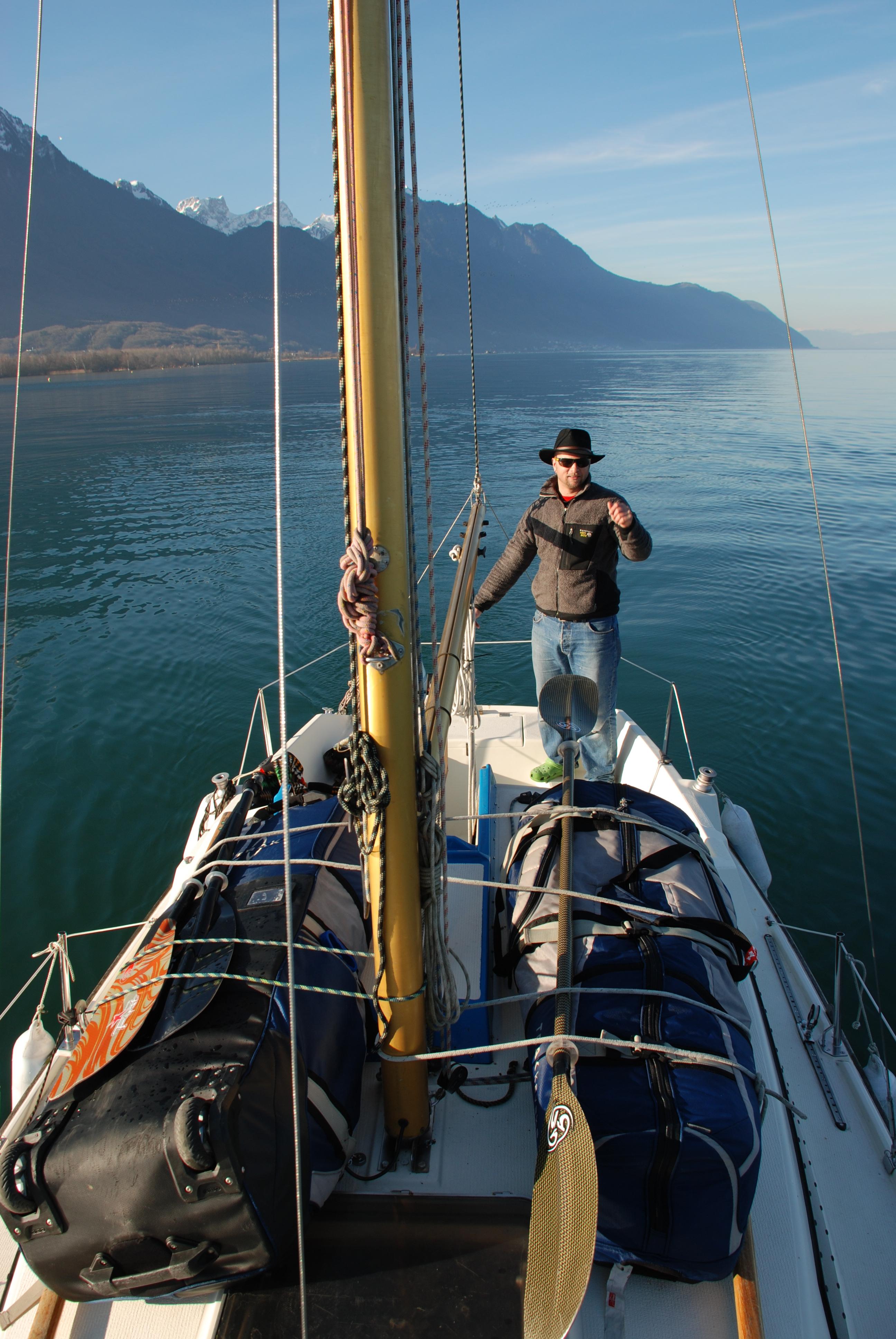 voile et paddle following john