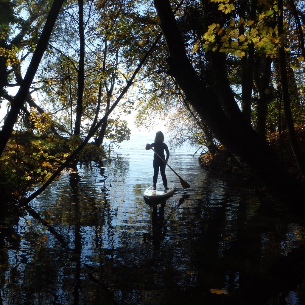 paddle following john