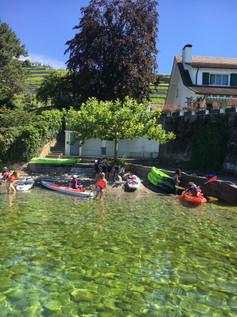 Initiation Stand Up Paddle et Kayak, Following John