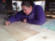 Woodburning in action