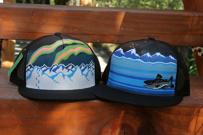 Alaska Designs Hand-painted on Ball Caps