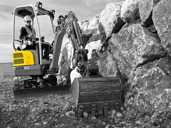Mini excavator hood