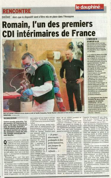 22.03.2014 Dauphiné Libéré