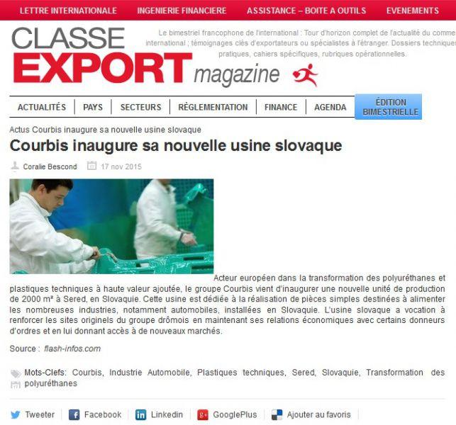 17.11.2015 Classe Export Magazine