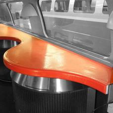 TGV bar car tablet protection