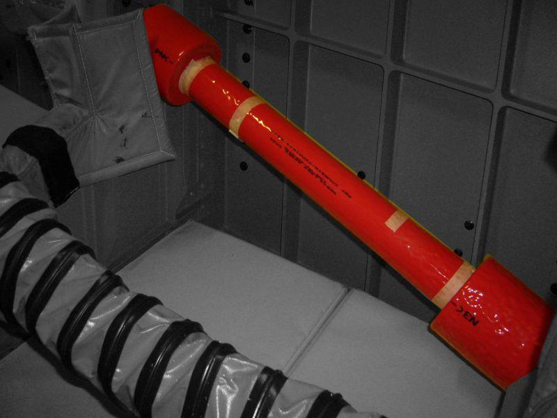 Protection tuyauterie avion