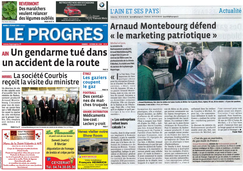 05.02.2013 Le Progrès