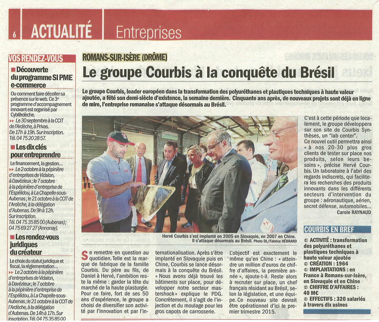 22.09.2014 Dauphiné Libéré