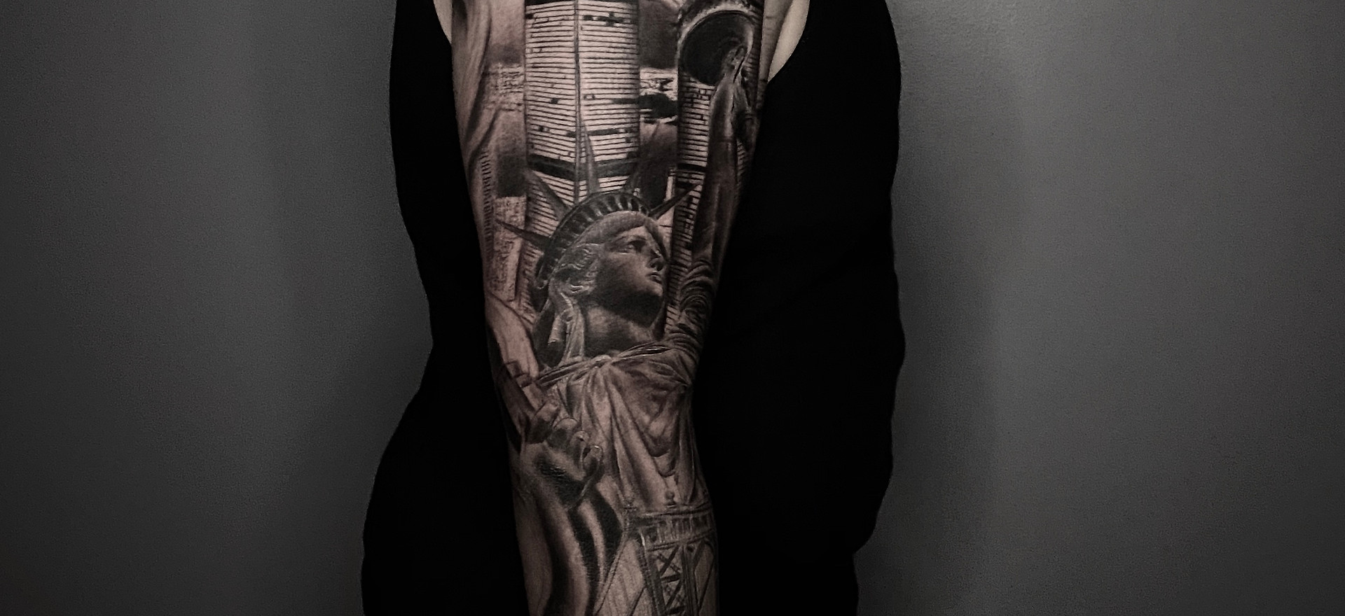 progress on this custom NY sleeve