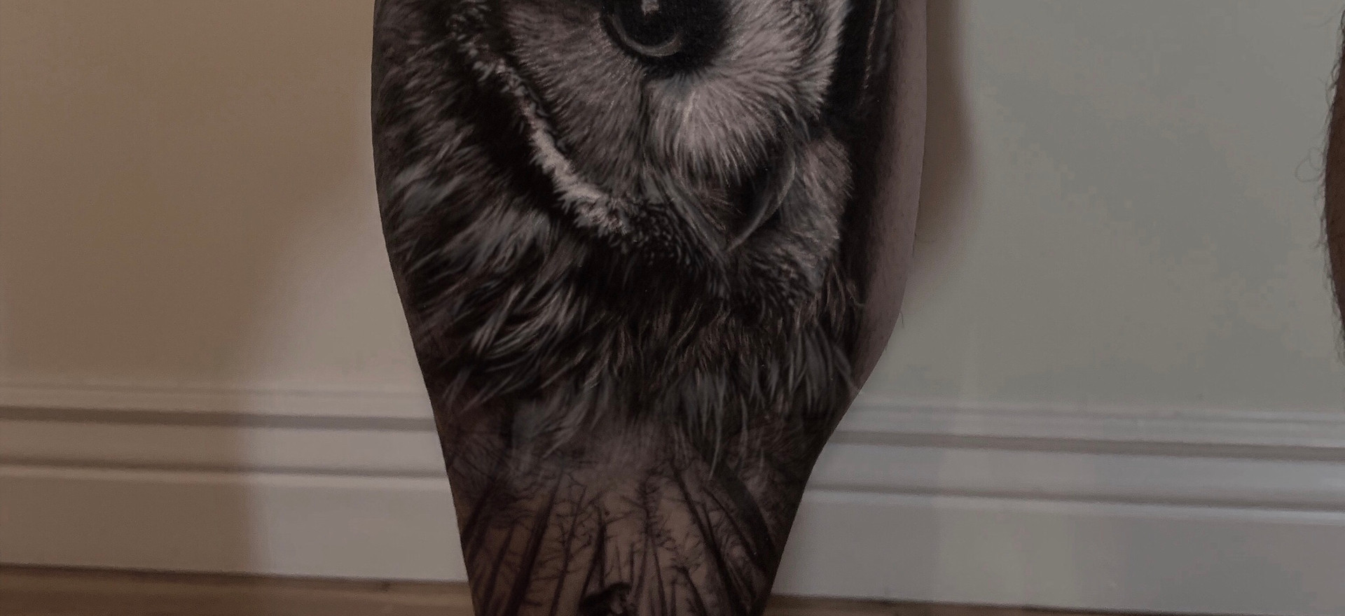 owl and running girl free session GIveaway winner tattoo