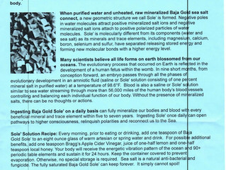 Baja Gold Sea Salt Information